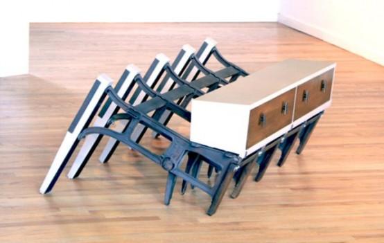 Необычная коллекция мебели из выброшенных материалов