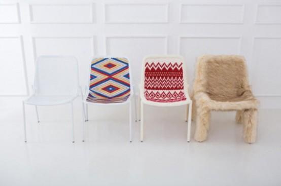 Теплая одежда для простых металлических стульев