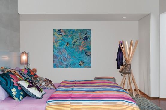 Тропический стиль: дизайн спальни для тех, кто любит яркие цвета