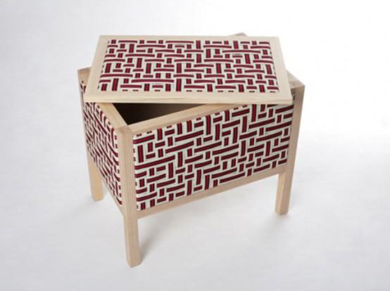 Эластичные ленты в дизайне деревянной мебели