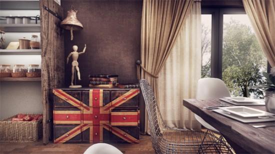 Современный дизайн дома с винтажными акцентами в Румынии
