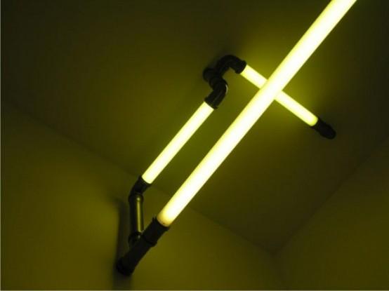 Необычные светильники в форме труб