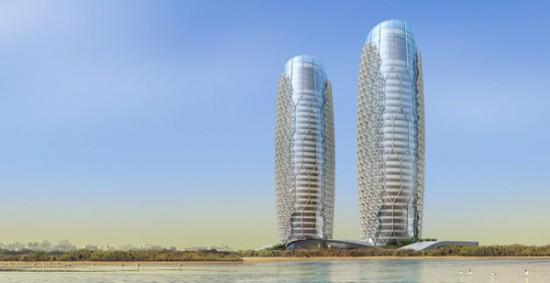 Умная система затенения на Al Bahar Абу-Даби Towers