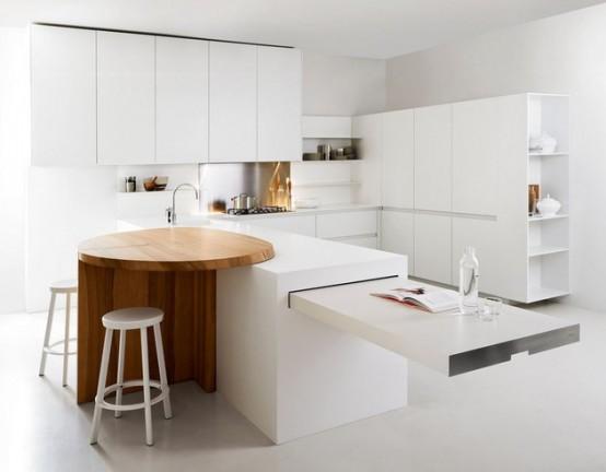 Продуманная минималистская кухня