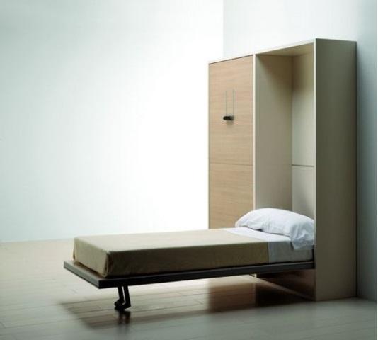 Скрытые кровати: 18 фото