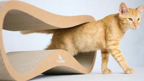Стильные минималистские кровати для кошек