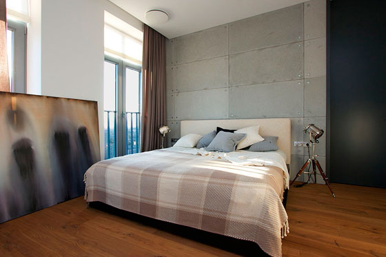 шикарный интерьер мужской спальни