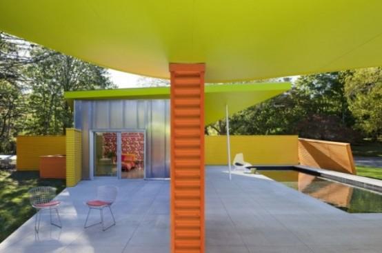 Красочный дизайн дома в Нью-Йорке