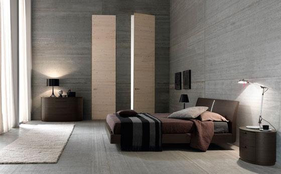 дизайн мужской спальной комнаты в стиле минимализм
