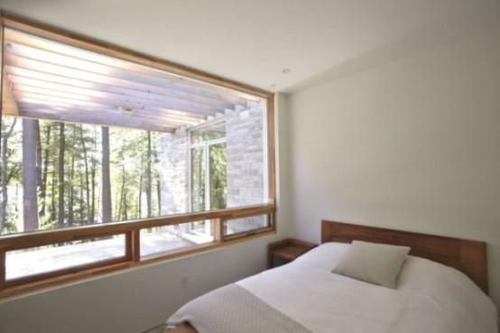 Минималистский дом в лесу с захватывающими видами