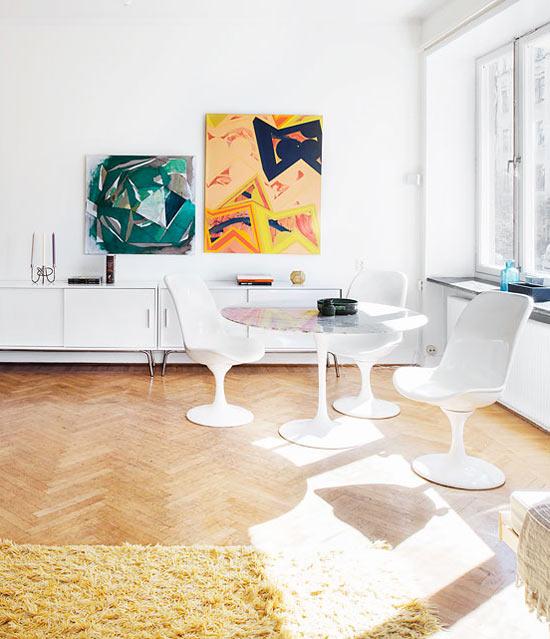 Просторная, светлая квартира в Стокгольме
