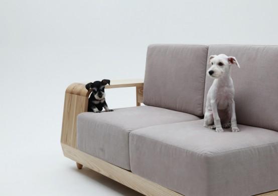 Удобный диван для вас и вашего питомца
