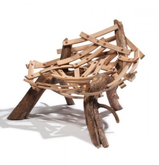 бревенчатый дом мебель