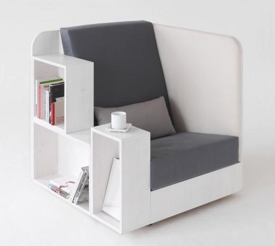 В этом кресле действительно удобно читать