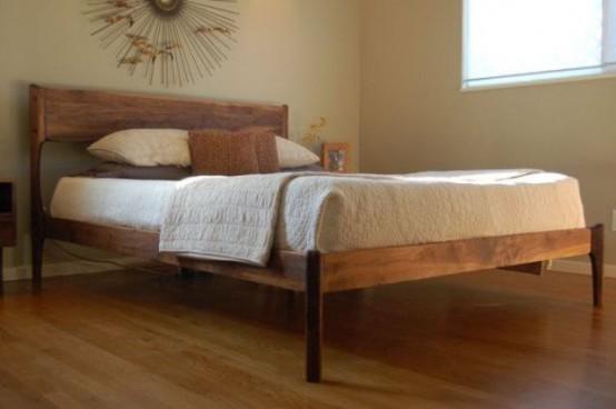 Средневековый стиль в современном исполнении: кровати