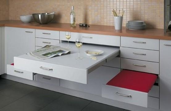 умная мебель для узкой кухни