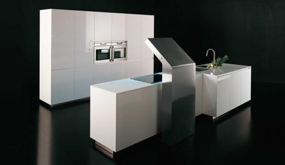 Две современные кухонные системы: L'Evoluzione и Sinuousa