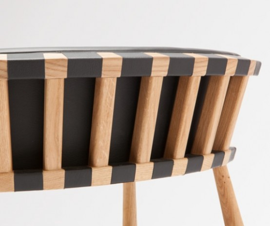 Сочетание дерева и кожи: H Furniture