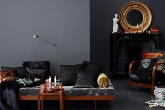 Готический стиль в интерьере гостиной комнаты: 15 фото