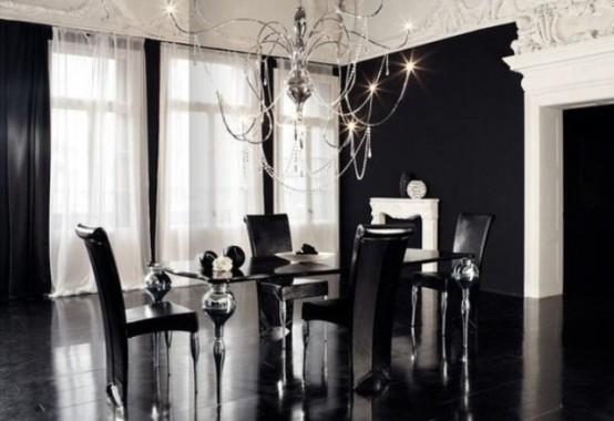 Кухня и столовая в готическом стиле: 16 фото