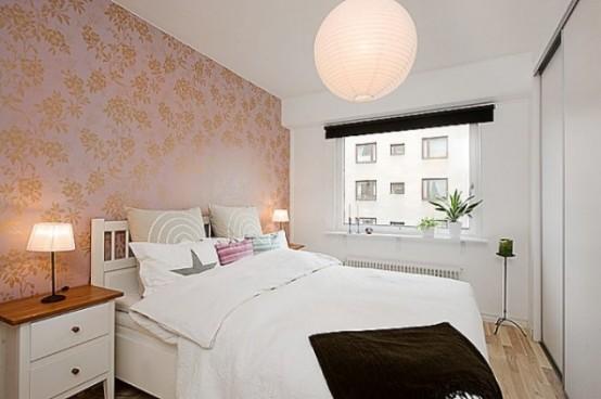 Дизайн интерьера маленькой спальной: 20 фото