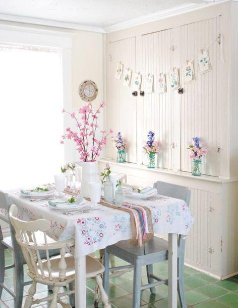 Весенний декор для кухни: 26 фото