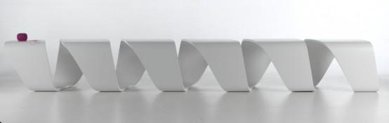 Необычная скамья от Leonardo Rossano: креативность и комфорт
