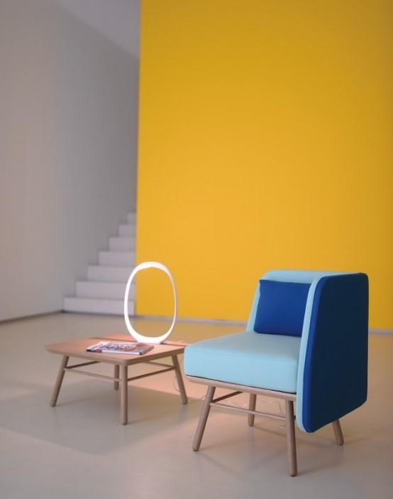 Bi Silla: кресло из дерева и ткани