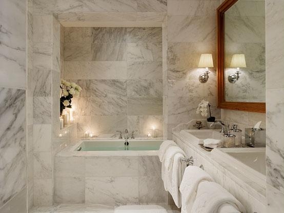 15 восхитительных ванных комнат в мраморе