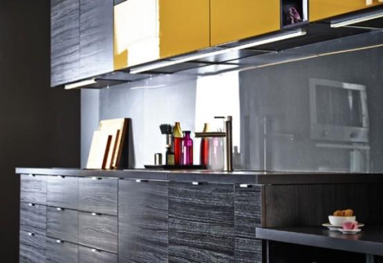 Черный и желтый: великолепное сочетание для кухни