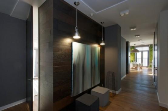 Эклектичные апартаменты с «зелеными» стенами 2