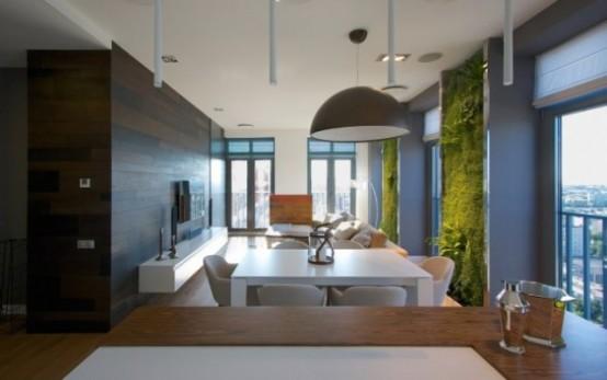 Эклектичные апартаменты с «зелеными» стенами 3