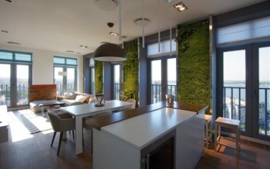 Эклектичные апартаменты с «зелеными» стенами 4