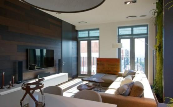 Эклектичные апартаменты с «зелеными» стенами 7