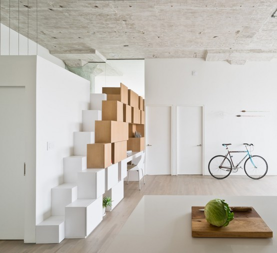 Квартира в Бруклине с асимметрическим дизайном