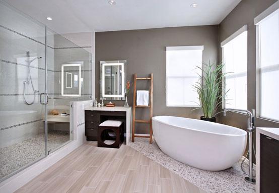 Ванная комната в нейтральный цветах