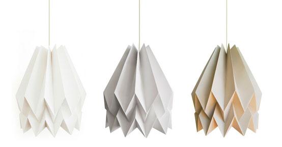 Orikomi: коллекция абажуров в стиле оригами