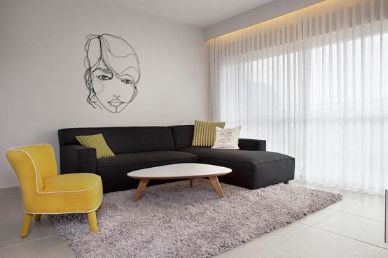 Апартаменты для молодой пары в Израиле: гостиная комната