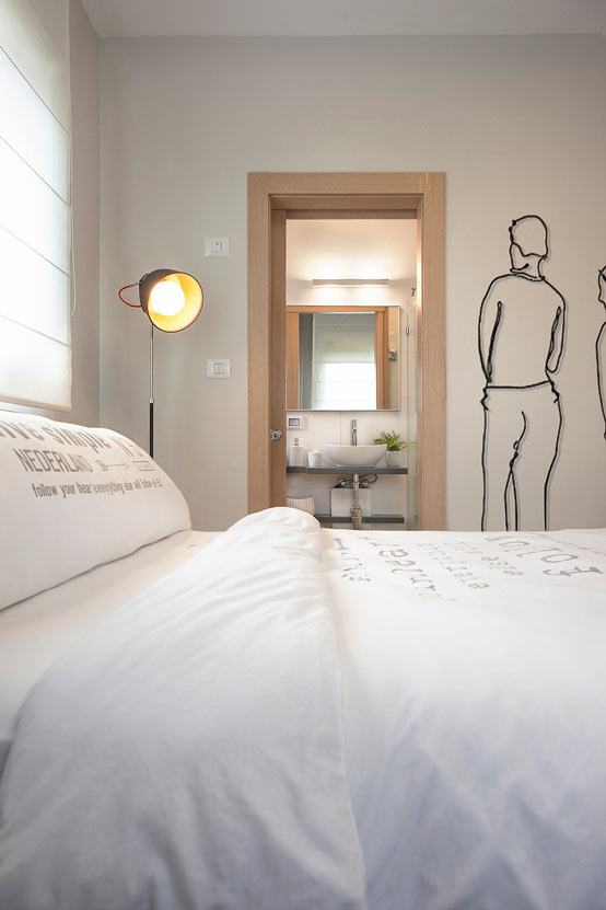 Апартаменты для молодой пары в Израиле: спальная комната