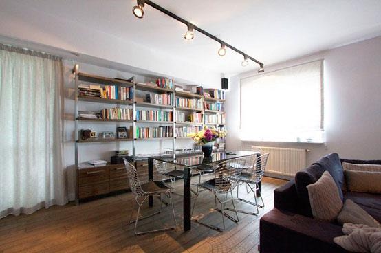 Апартаменты площадью 150 квадратных метров в Варшаве столовая