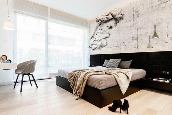 Апартаменты в Гдыне: заманчивые цветовые контрасты