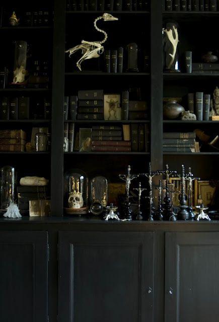 Домашний офис и библиотека в готическом стиле: 21 фото