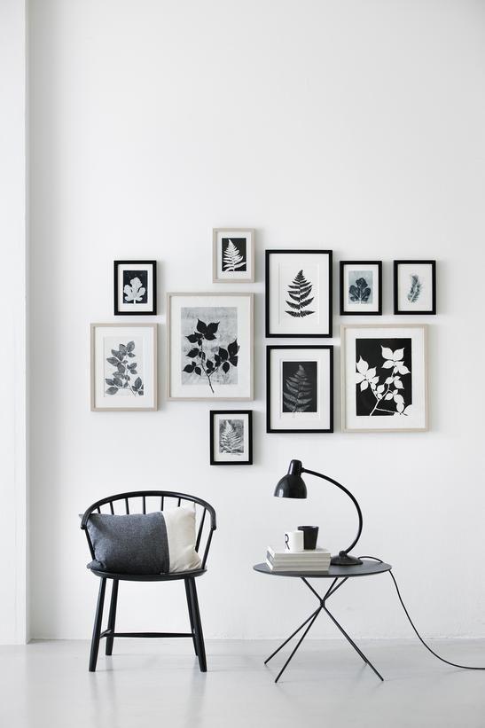 Как оформить стены фотографиями: 50 фото