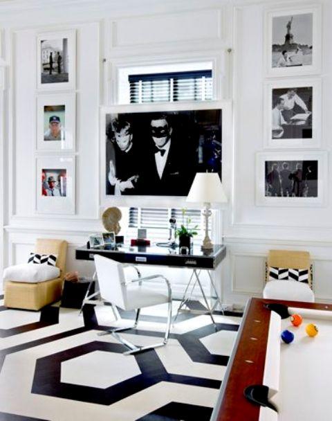 Геометрический декор для домашнего офиса: 27 идей