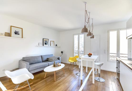 Интерьер квартиры для двоих от дизайнера Richard Guilbault