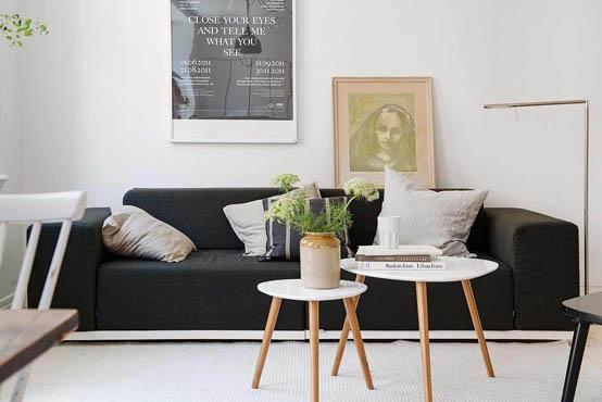 Однокомнатная квартира с ярким интерьером в Гетеборге (40 кв.м.)