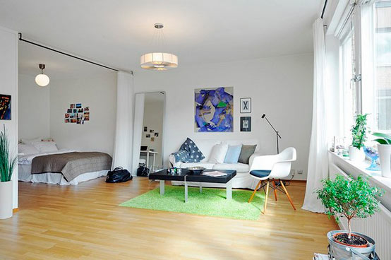 идеи дизайна интерьера однокомнатной квартиры