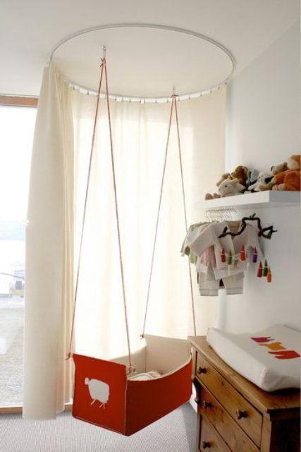 Подвесные колыбели для вашего ребенка: 27 фото