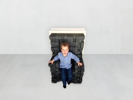 Регулируемое деревянное кресло от Керен Шикер