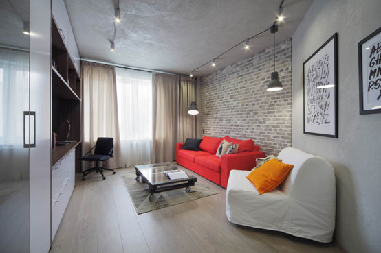 Квартира в стиле лофт (47 кв. м)